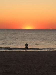 Hombre, mar y sol
